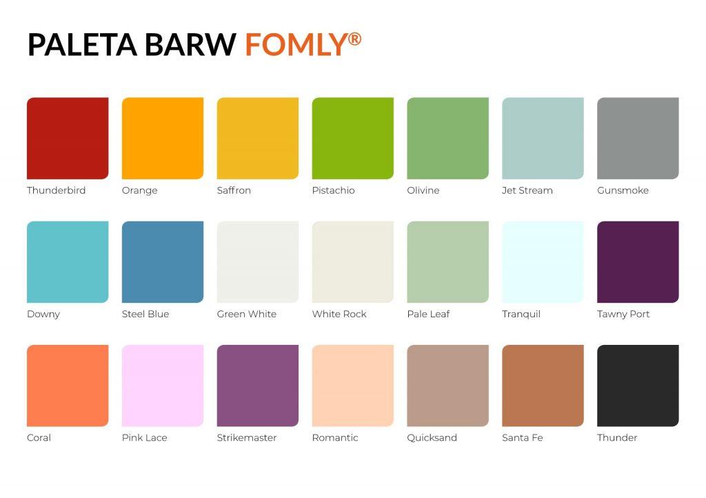 Paleta kolorów Fomly